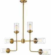 Z-Lite 617-6FB Calliope Contemporary Foundry Brass Chandelier Light