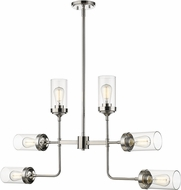 Z-Lite 617-6PN Calliope Modern Polished Nickel Ceiling Chandelier