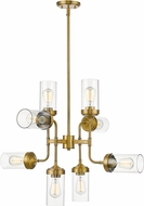 Z-Lite 617-8FB Calliope Contemporary Foundry Brass 32  Hanging Chandelier