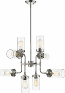 Z-Lite 617-8PN Calliope Modern Polished Nickel 32  Chandelier Light