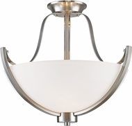 Z-Lite 7000SF-BN Halliwell Brushed Nickel Flush Mount Lighting
