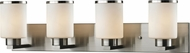 Z-Lite 706-4V-BN Roxburgh Brushed Nickel 4-Light Bathroom Lighting Fixture