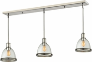 Z-Lite 718MP-3BN Mason Brushed Nickel Clear Seedy Multi Hanging Pendant Light