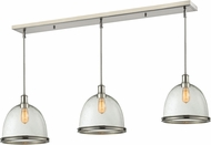 Z-Lite 718P13-3BN Mason Brushed Nickel Clear Seedy Multi Pendant Hanging Light