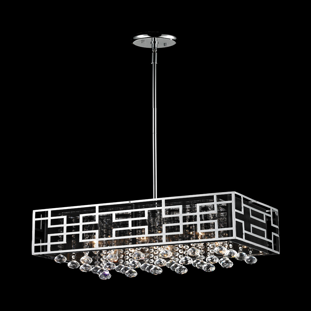 Z lite 870ch mirach contemporary chrome kitchen island Modern kitchen light fixtures