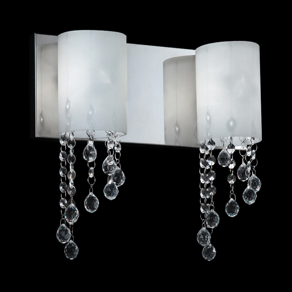 Halogen Bathroom Wall Sconces : Z-Lite 871CH-2V Jewel Contemporary Chrome Halogen 2-Light Bathroom Light Sconce - ZLT-871CH-2V