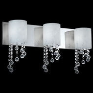 Z-Lite 871CH-3V-LED Jewel Chrome LED 3-Light Bathroom Lighting Fixture