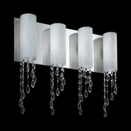 Z-Lite 871CH-4V Jewel Contemporary Chrome Halogen 4-Light Bathroom Sconce Lighting