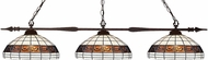 Z-Lite 88103BRZ-F14-1 Aztec Bronze Multi-Coloured Tiffany Kitchen Island Lighting