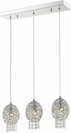 Z-Lite 889CH-3B Nabul Chrome Halogen Multi Pendant Lighting Fixture