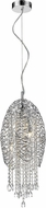 Z-Lite 889CH-3C Nabul Chrome Halogen Hanging Pendant Lighting