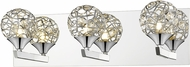 Z-Lite 889CH-3V Nabul Chrome Halogen 3-Light Lighting For Bathroom