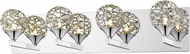Z-Lite 889CH-4V Nabul Chrome Halogen 4-Light Bath Lighting