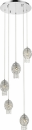 Z-Lite 889CH-5A Nabul Chrome Halogen Multi Hanging Pendant Light