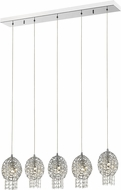 Z-Lite 889CH-5B Nabul Chrome Halogen Multi Pendant Hanging Light