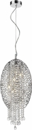Z-Lite 889CH-5C Nabul Chrome Halogen Hanging Light Fixture