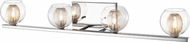 Z-Lite 905-4V Auge Contemporary ChromeHalogen 4-Light Bathroom Lighting Fixture