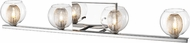 Z-Lite 905-4V-LED Auge Contemporary Chrome LED 4-Light Bathroom Vanity Light Fixture