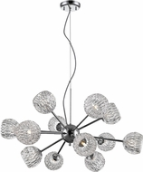 Z-Lite 909-12 Laurentian Chrome Halogen Chandelier Lighting