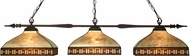 Z-Lite 99103BRZ-Z14-52 Aztec Bronze Multi-Coloured Tiffany Kitchen Island Light