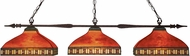 Z-Lite 99103BRZ-Z14-53 Aztec Bronze Multi-Coloured Tiffany Island Light Fixture