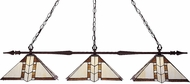 Z-Lite 99103BRZ-Z14-608 Aztec Bronze Multi-Coloured Tiffany Kitchen Island Light Fixture