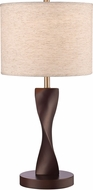 Z-Lite TL123 Serenity Contemporary Mahogany Table Lamp Lighting
