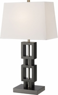 Z-Lite TL126 Serenity Modern Black Table Lamp