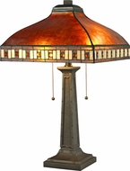 Z-Lite Z14-53TL Crimson Tiffany Java Bronze Table Lamp