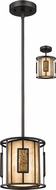 Z-Lite Z8-54MP-C Lankin Contemporary Bronze Mini Hanging Light