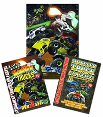 LOTS and LOTS of MONSTER TRUCKS 3 DVD SET W/ FREE POSTER! As Seen On TV! - Not In Stores! BEST DEAL!