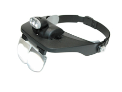 Headband Magnifier with Adjustable  LED Light