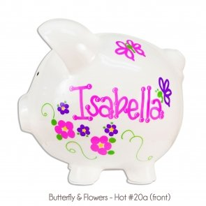 Extra Large Hand Painted Piggy Bank