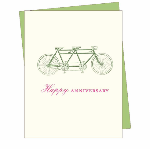 Anniversary Bicycle Card