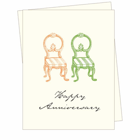 Anniversary Chairs Card