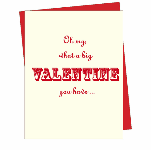 Big Valentine Card