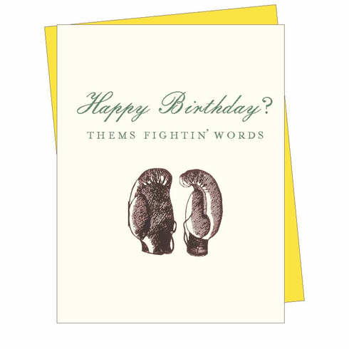 Birthday Boxing Card