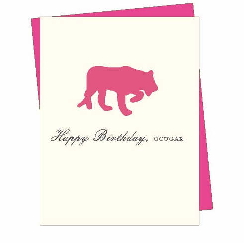 Birthday Cougar Card