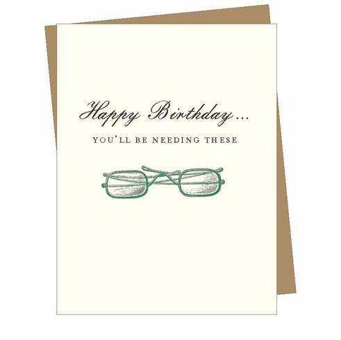 Birthday Glasses Card