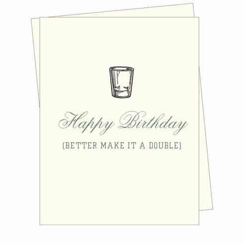 Birthday Shot Card