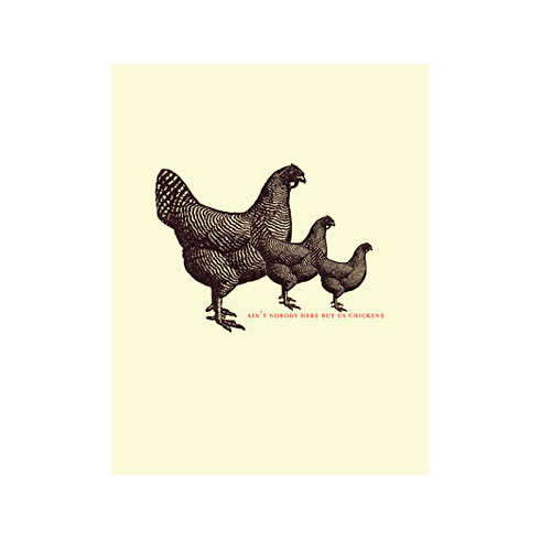 Chickens - greeting card