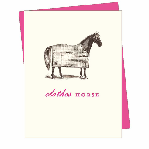 Clothes Horse Card