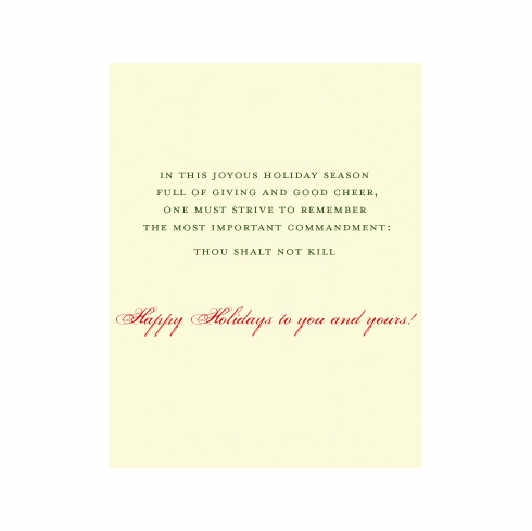 Commandment Holiday Card