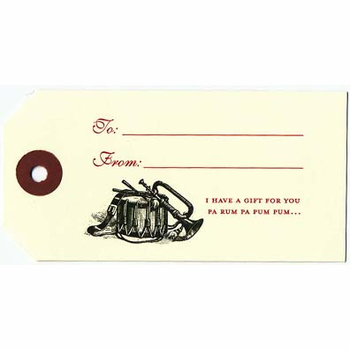 Drummer Gift Tags