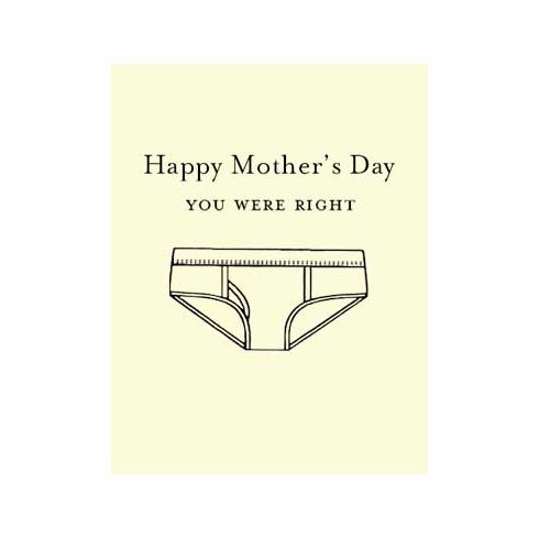 Mother's Day Underwear