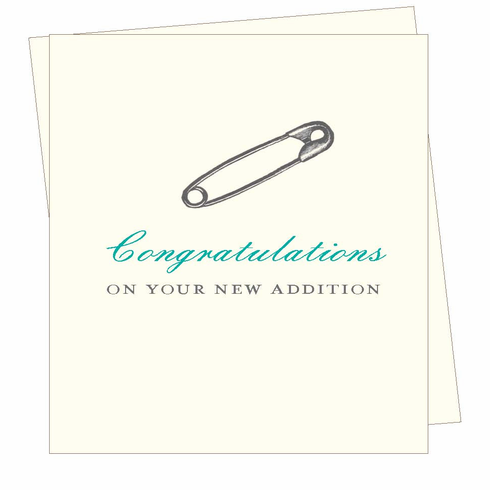 Safety Pin (Congratulations) Card