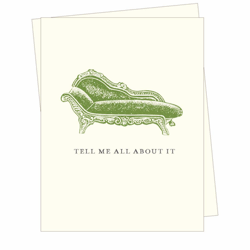 Tell Me All About It Card