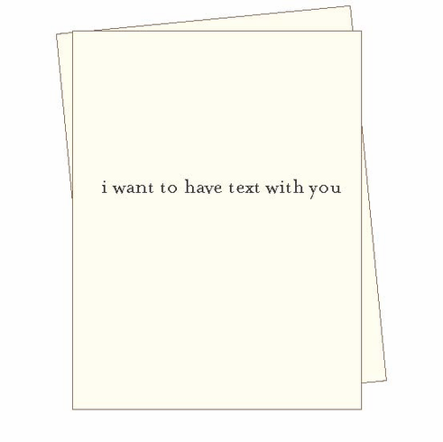Text With You Card