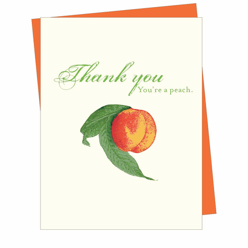 Thank You Peach Card