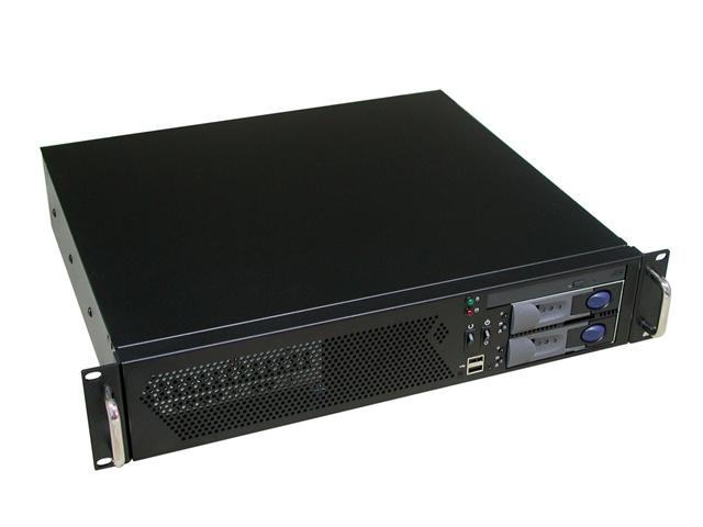 RM-2254 2U Two Hot-Swappable SATA Trays 15.1 in. Deep Rackmount Case